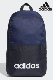 brand new 7f4ea ec412 adidas Blue Linear Classic Daily Backpack