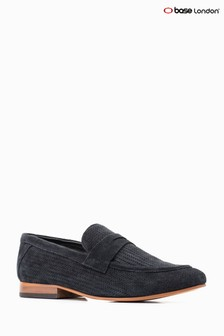 Base London® Navy Suede Fleming Loafer
