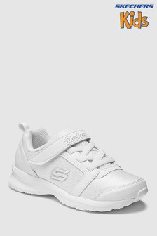 Skechers® White Skech Step Stepz Sweet Twist Gore Strap Sneaker