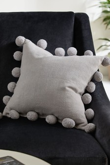 Pom Pom Edge Square Cushion