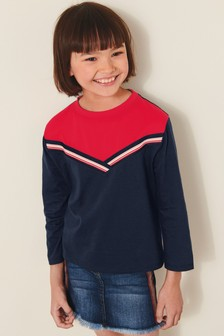 Colourblock Long Sleeve T-Shirt (3-16yrs)
