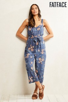 FatFace Blue Eleanor Sunset Floral Jumpsuit