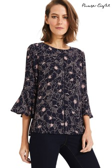 Phase Eight Blue Molly Print Blouse