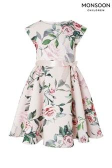 Розовое платье с принтом Monsoon Carissa