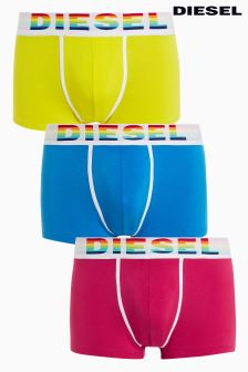 Diesel® Pink/Yellow/Blue Trunks Three Pack