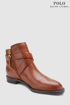 Lauren Ralph Lauren® Saddle Tan Hermione Strap Ankle Boot