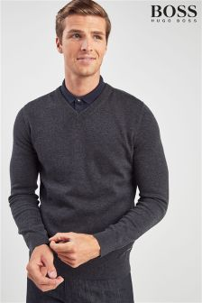BOSS Albonop V-Neck Jumper