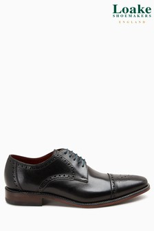 Loake Black Foley Brogue Shoe