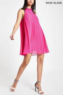 bfc1ef42d618 River Island Pink Cutaway Pleat Swing Dress
