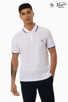 Original Penguin® White Short Sleeve Sticker Pete Pique Polo
