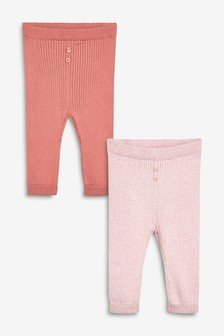 Confezione da 2 leggings in maglia (0 mesi - 2 anni)