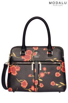 Modalu Black Print Pippa Mini Grab Bag