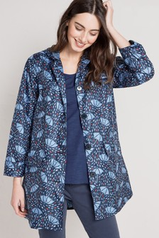 Seasalt Blue Pack It Lino Umbrella Night Jacket