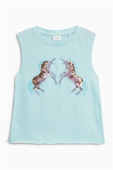 Unicorn Sequin Vest (3-16yrs)