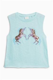 Unicorn Sequin Vest (3-16yrs)