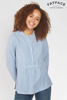 FatFace Chambray Frankie Stripe Popover Shirt