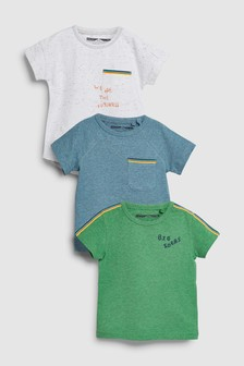 Short Sleeve Rainbow Tape T-Shirts Three Pack (3mths-6yrs)