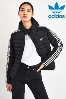adidas Originals Black 3 Stripe Slim Jacket