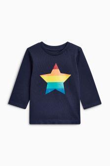 Long Sleeve Gold Star T-Shirt (3mths-6yrs)