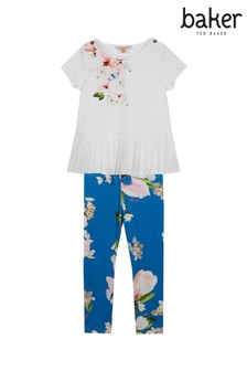 0127cb048 baker by Ted Baker Younger Girls Printed Top And Legging Set