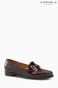 Carvela Comfort Click Loafer in Lackoptik, Weinrot