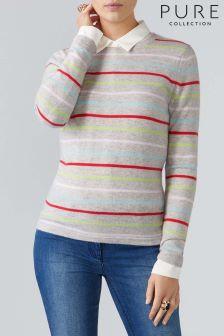 Розовый свитер из кашемира с круглым вырезом Pure Collection