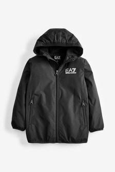 Emporio Armani EA7 Black Logo Jacket