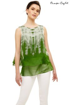 Phase Eight Green/Multi Martyna Silk Sleeveless Blouse