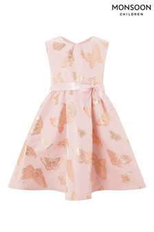 Monsoon Pink Nora Butterfly Dress