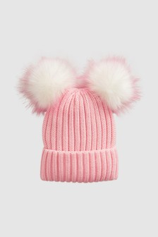 Double Pom Beanie Hat (Older)