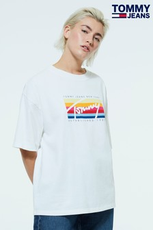 Tommy Jeans Oversized Coloured Logo T-Shirt