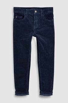Вельветовые брюки облегающего кроя с пятью карманами (3-16 лет)