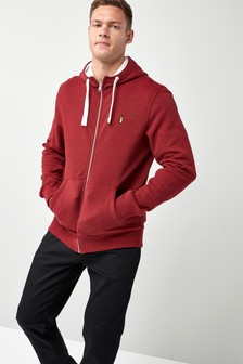Badge Zip Through Hoody