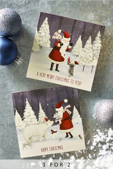20 pack santa christmas cards - Christmas Images For Cards