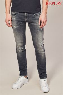 Replay Mid Blue Anbass Slim Fit Jean