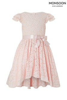 Monsoon Pink Caterina Hi-Low Dress