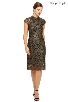 Phase Eight Metallic Janie Corded Lace Dress