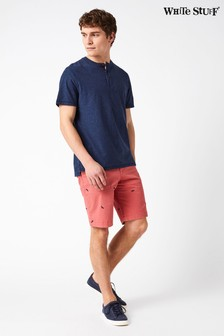 White Stuff Red Banbury Embroidered Chino Short