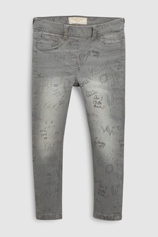 Scribble Print Jeggings (3-16yrs)