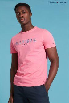 Tommy Hilfiger Pink Floral Logo T-Shirt