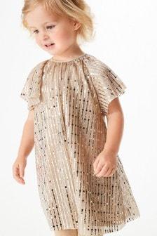 Angel Sleeve Sequin Dress (3mths-7yrs)