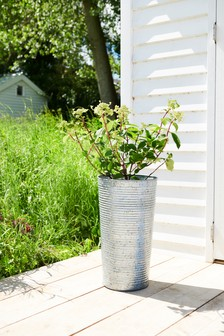 Tall Galvanised Planter