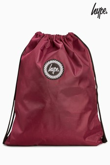 Hype. Burgundy Drawstring Bag
