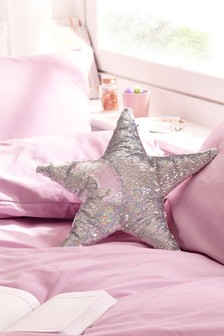 Sequin Swoosh Star Cushion