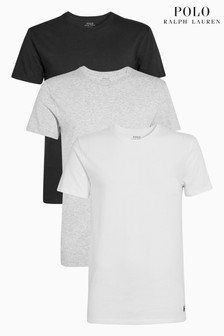 dffc2a52b4 Polo Ralph Lauren Black/Grey/White T-Shirt 3 Pack