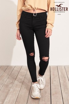 Hollister Black Mid Wash Jeggings