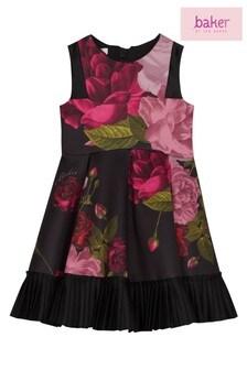 baker by Ted Baker Black Frill Detail Prom Dress