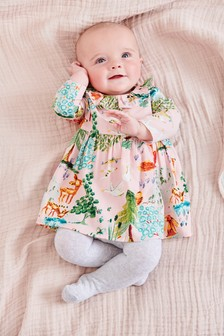 Woodland Print Dress (0mths-2yrs)