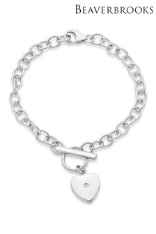 Beaverbrooks Children's Silver Diamond Heart Bracelet