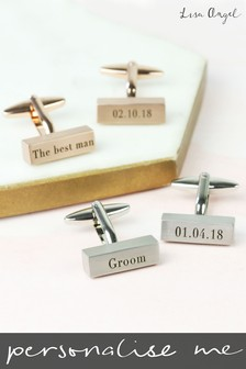 Personalised Wedding Bar Cufflinks By Lisa Angel